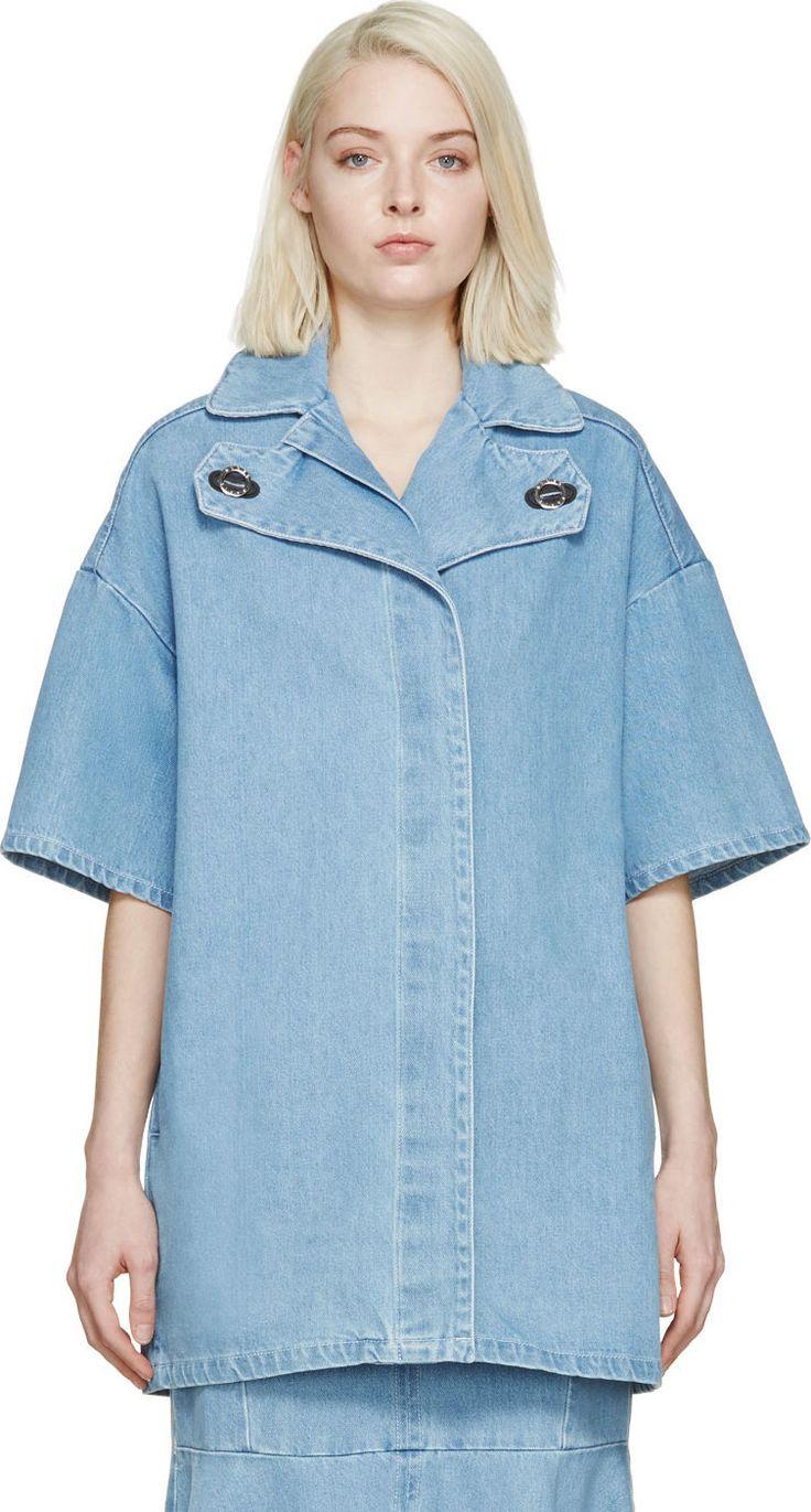 KENZO Blue Denim Volume Coat. #kenzo #cloth #coat