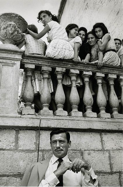 Yves Montand, Italy, by Jeanloup Sieff 1958