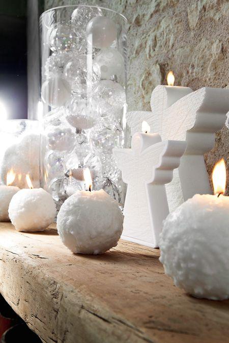 Bougies la Française - Bougies décoratives anges et boules de neige.