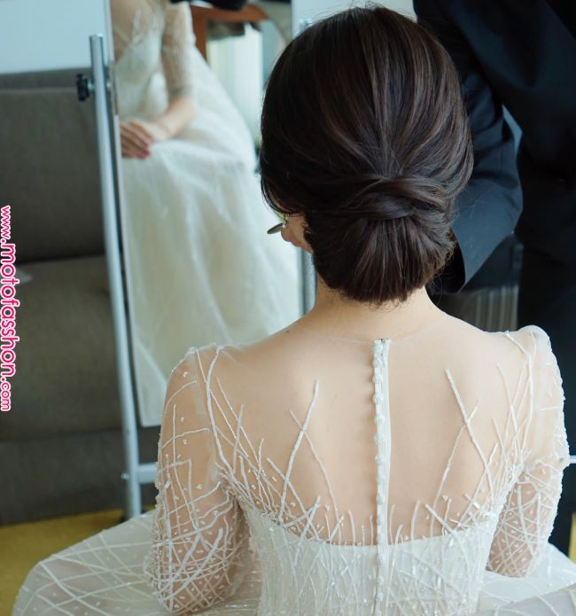 Frisurengalerie | Japanische Frisuren im Jahr 2019 | Hochzeitsfrisuren, Hochzeitsgastfrisuren, Low Bun Brautfrisuren Galerie | Japanische ha ...