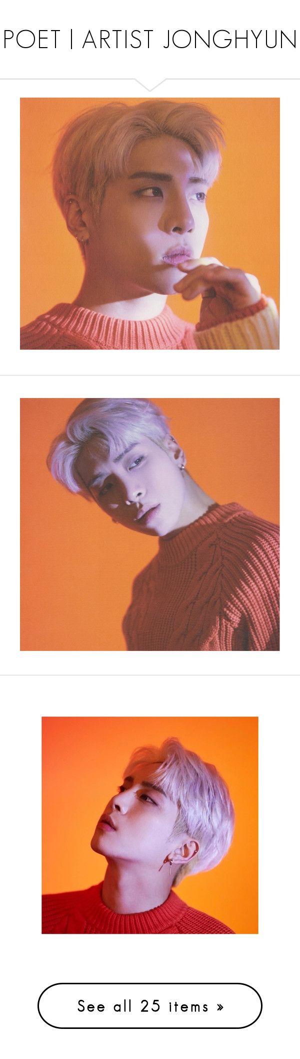 """POET | ARTIST JONGHYUN"" by sxoultrip ❤ liked on Polyvore featuring kpop, shinee, jonghyun, shinin, outerwear and coats"