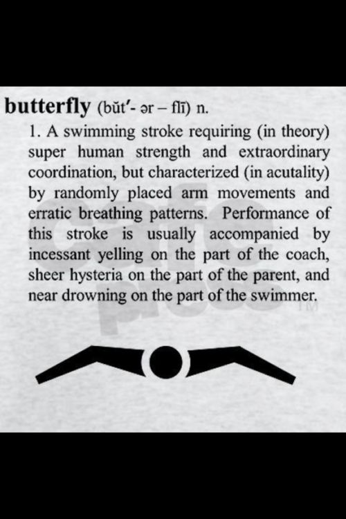Swimming Memes ahahahhaaahahahahaha! I actually did have a near drowning experience with the dreaded butterfly...