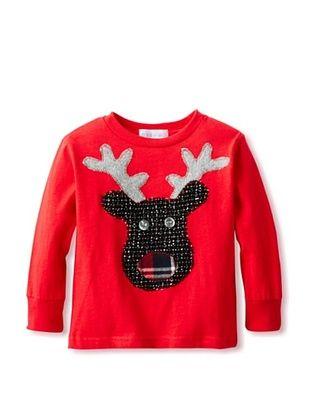 71% OFF Tilly & Jax Boy's Reindeer Long Sleeve T-Shirt (Red)