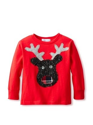 71% OFF Tilly & Jax Boy's Reindeer Long Sleeve T-Shirt (Red)