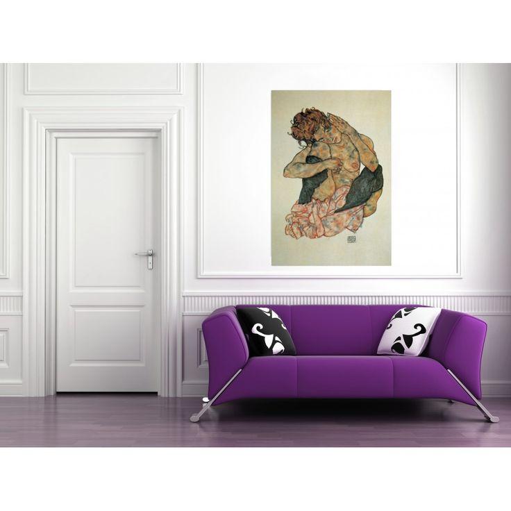 SCHIELE - KAUERNDER MAEDCHENAKT #artprints #interior #design #art #print #iloveart #followart  Scopri Descrizione e Prezzo http://www.artopweb.com/EC17614