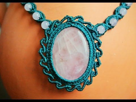 ▶ How to Make a Macrame Necklace with a Gemstone - Macramé Tutorial [DIY] - YouTube