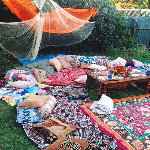 bohemian #outdoor living  For the Home  Pinterest