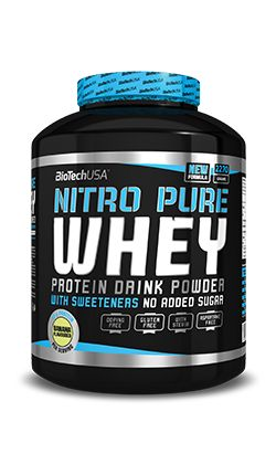 Biotech USA Nitro Whey 2kg Strawberry:   The whey protein matrix used in Nitro Pure Whey is a professional complex compound which contains isolates and peptides derived from the purest whey protein sources. Due to the cold-process cross-flow microfiltration technology, the proteins used in Nitro Pure Whey retain their natural, easy-to-absorb form, without undergoing any chemical changes