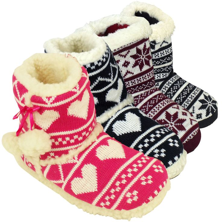 Furry Boot Slippers For Women | Santa Barbara Institute for