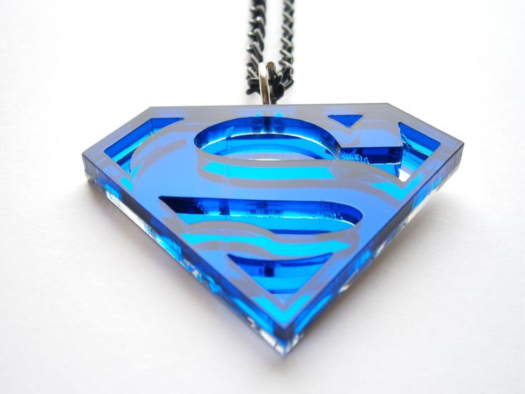 Acrylic Superman necklace