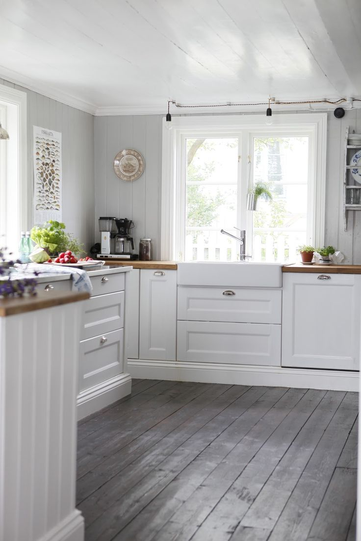 wooden floor and worktops
