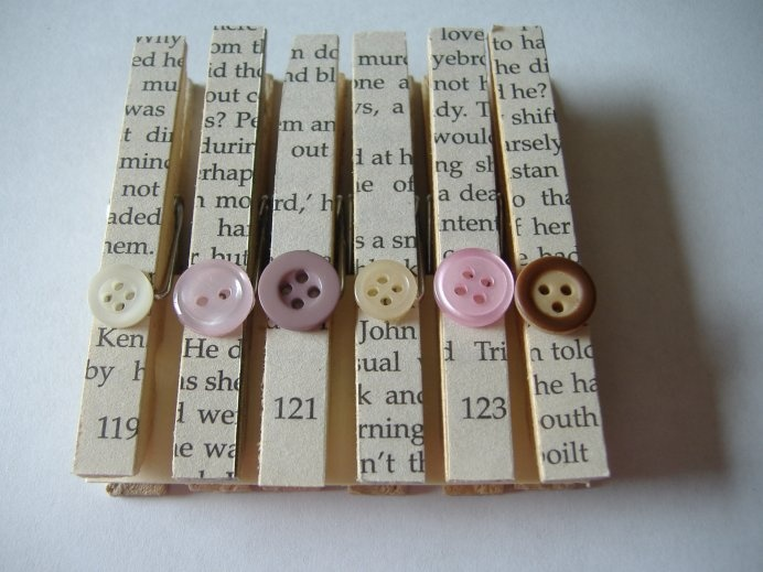 Special clothes pins.                                                                                                                                                      More