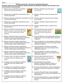 STAAR Writing Revising Practice -Phineas and Ferb | Fourth ...