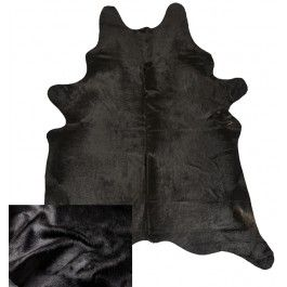 NATURAL COWHIDE RUG MAINLY BLACK