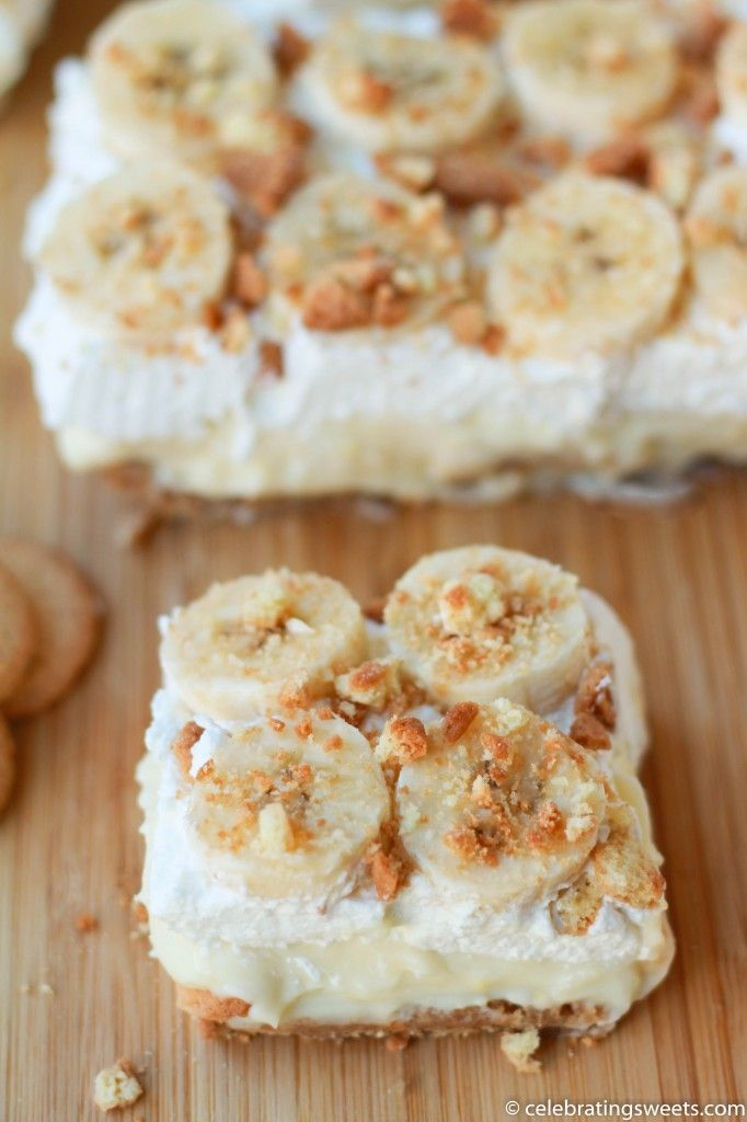 Creamy Banana Pudding Bars - but with chocolate pudding instead of the Cool Whip?