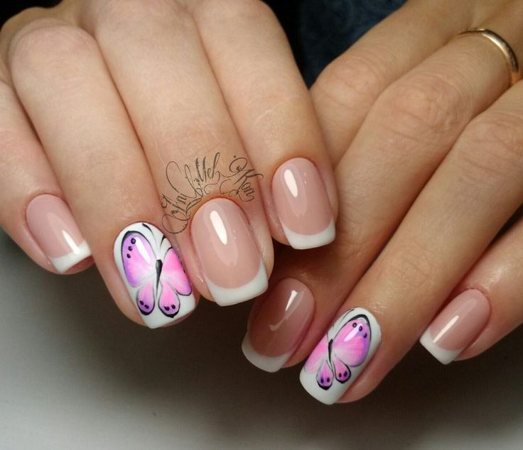 French Design Nail Art Gallery: 553 Best French Nails Images On Pinterest