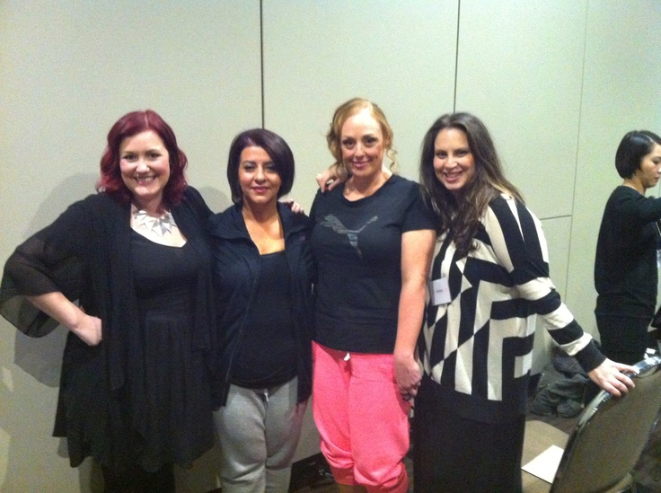 More beautiful ladies from the Michelle Bridges 12wk challenge! Alongside me and the amazing hairdresser for the evening