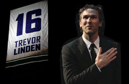 Trevor Linden jersey retirement.
