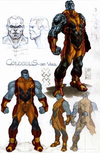 Astonishing X-Men Colossus sketches by Simone Bianchi