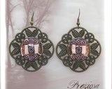 Vintage Look & Glass Mosaic Earrings