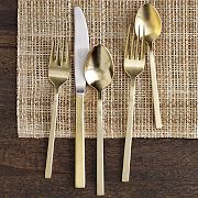 gold flatware as a gift