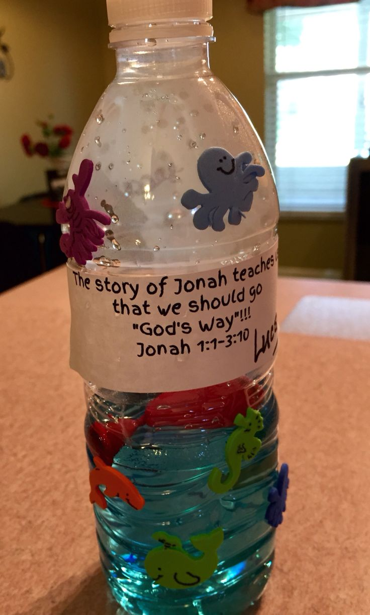 Jonah And The Whale Ocean Bottles Bible Lessons