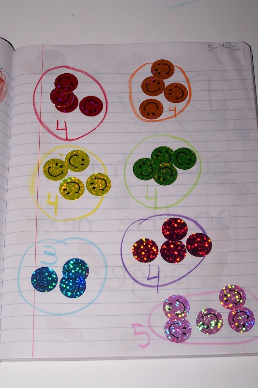 Simple sticker counting