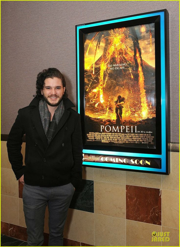 Kit Harington attending a screening of his latest film Pompeii at Regal Gallery Place theater in Washington, D.C.