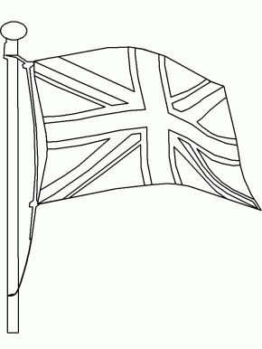 Flag3 England Coloring Pages coloring page & book for kids
