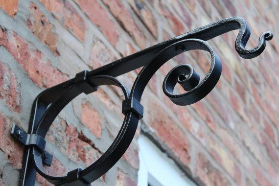 Hanging Basket Bracket handmade ironwork by by TomFellBlacksmith