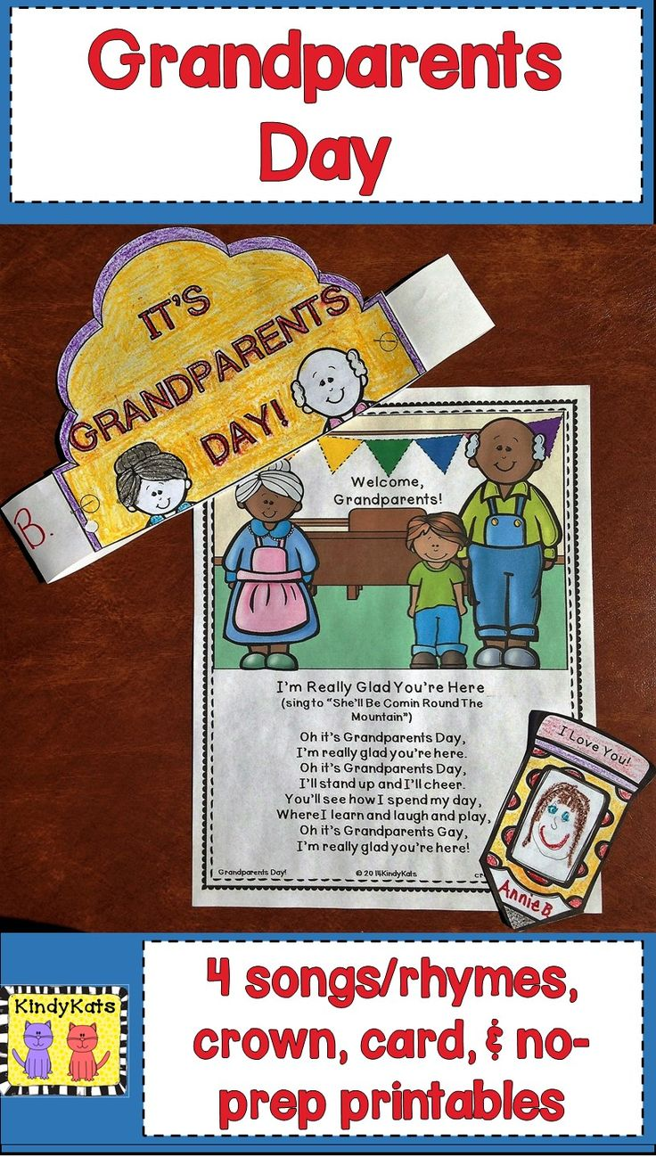 Spark student excitement for Grandparents Day and work on literacy skills, too, with these cute songs and rhymes! TpT$