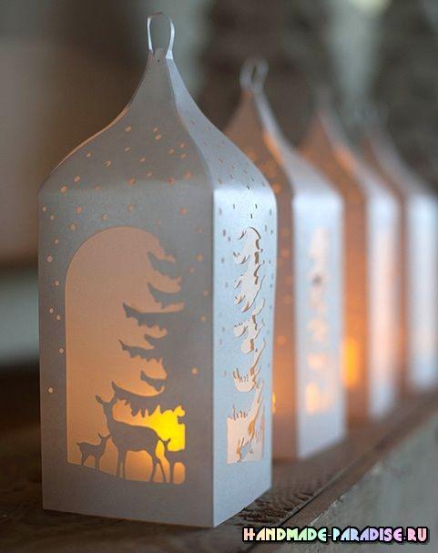 Lanternes de Noël à imprimer et découper