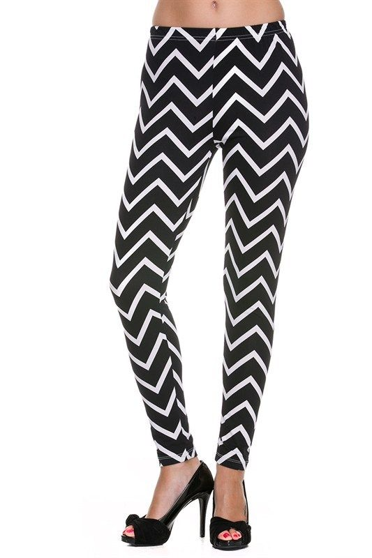Kiki La'Rue - Chevron Leggings - Black/White, $18.00 (http://www.kikilarue.com/chevron-leggings-black-white/)