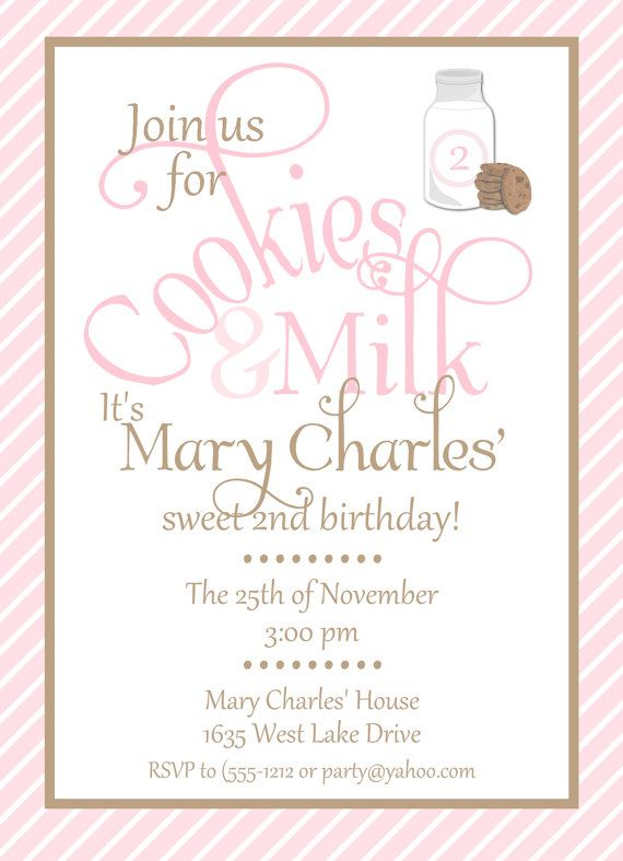 Cookies and Milk Custom Birthday Party by allisonpowelldesigns, $15.00Birthday Party Invitations, Birthday Parties, 1St Birthday, Parties Ideas, Custom Printables, Parties Invitations, Milk Custom, Custom Birthday, Birthday Ideas