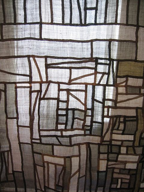 Pojagi, Korean textiles resemble stained glass when light passes through them, but their structures are so much more beautiful because of their imperfect nature. Love this look, would make absolute beautiful privacy cafe curtains.