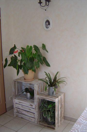 caisse à pommes rénovées  - caisse à pommes rénovées par mes soins et transformé en meubles