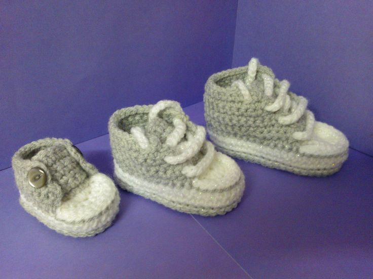 crochet converse style slippers