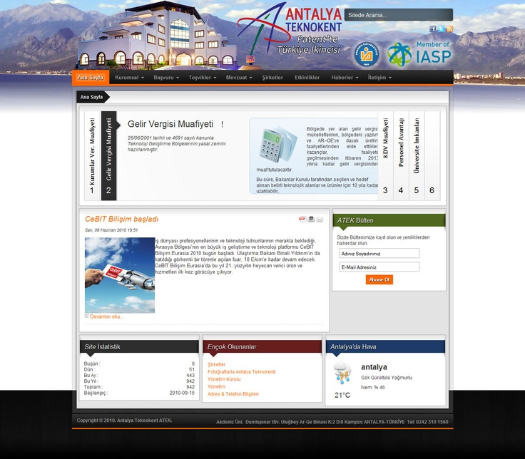 Antalya Techno City Co. CMS Web Design