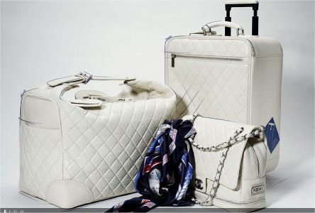 White Luggage  Arrive in Style