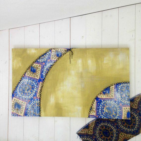 Quadro moderno e minimalista personalizzato/ Quadro materico e geometrico/ Pannello astratto decorativo con impunture/ Articolo per la casa
