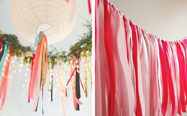 Богемный декор   Ленты в декоре свадьбы