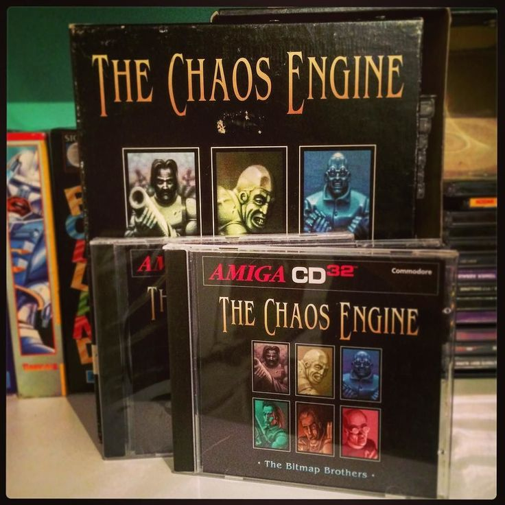 On instagram by matteballa #amiga500 #microhobbit (o) http://ift.tt/1qydcxj Chaos Engine collection. Amiga 500 version and two copies of the CD32 version one is still sealed. #rceurope #retrocollective #retrocomputers #retrogaming #retrogames #amiga  #vintagecomputer #bitmapbrothers #chaosengine #thechaosengine #amigacd32 #cd32 #aga #ecs #commodore #games #videogames #computergames