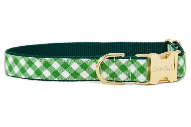 St. Patrick's Day Picnic Plaid Dog Collar