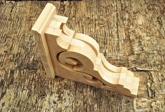Viktorianischen Holzregal Halterung rustikale Holz Corbel Bauernhausdekor Handarbeit  Aus Holz handgefertigte dekorative Wandkonsole. Dies sind geschliffen und bereit für die Malerei oder Färbung.  !!! Der Preis ist für eine Wandkonsole angegeben!!!  Größe: 7,3 / 8,9 / 2,8 Zoll