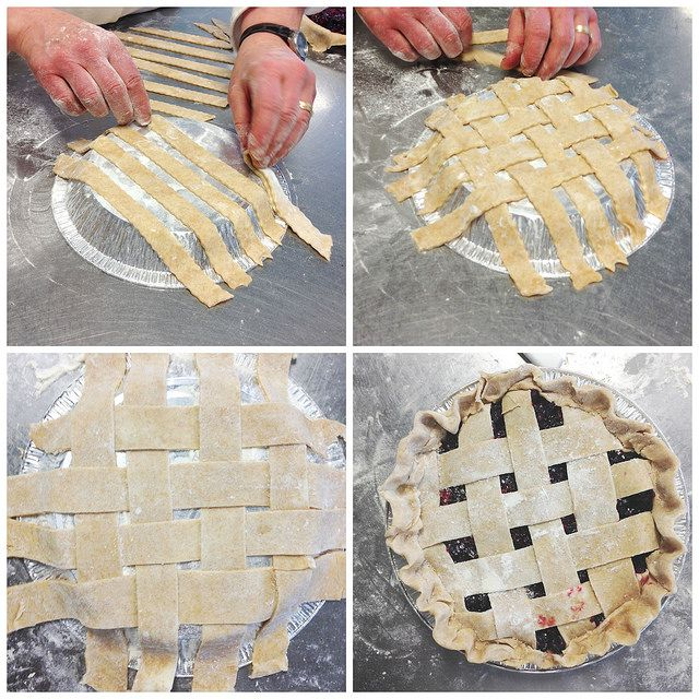 Beyond Frosting: King Arthur Flour #bakeforgood. Build your lattice on top of a pie tin, then flip it over onto your pie. Easier and less of a mess!