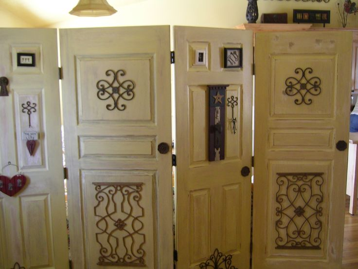 Old Doors Antiqued And Made Into A Room Divider
