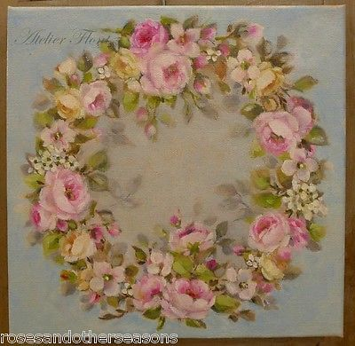 """Wreath of roses """"a l'Aubusson """"  by Helen Flont"""