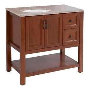 Home Decorators Collection Catalina 36 1 2 In Vanity In Amber With Stone Effects Vanity Top In