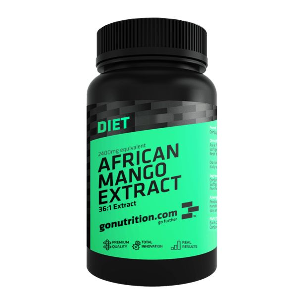 African Mango Extract - GoNutrition - Benefícios Chave - Aumenta a queima de gordura. - Pode suprimir o apetite. - Regula os níveis de açúcar no sangue.