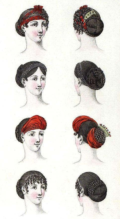 Regency Hairstyles (1807).